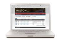 Laptop showing Walton WorkWatch extranet